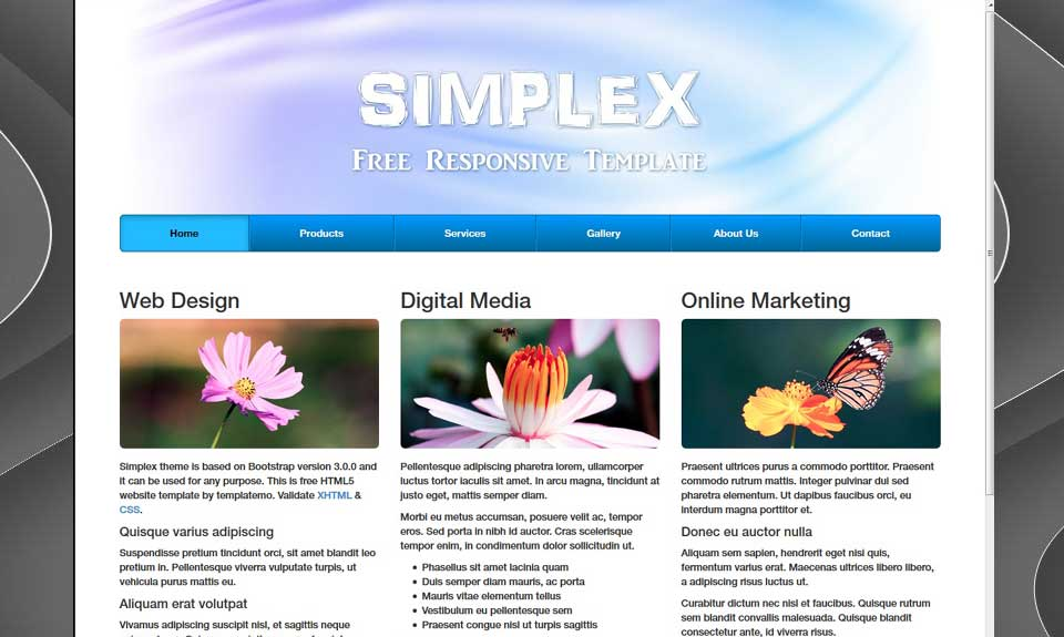 Complete layout Static HTML site with CMS