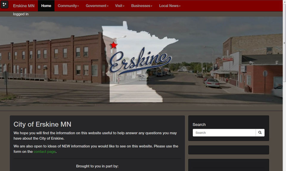 Erskine MN demo web site