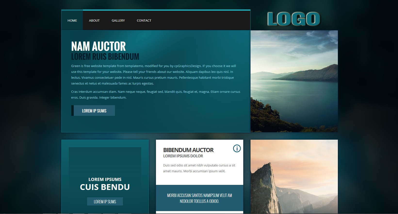 Green Theme with on page editing snapshot