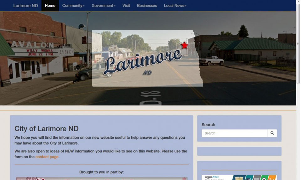 Larimore ND demo web site