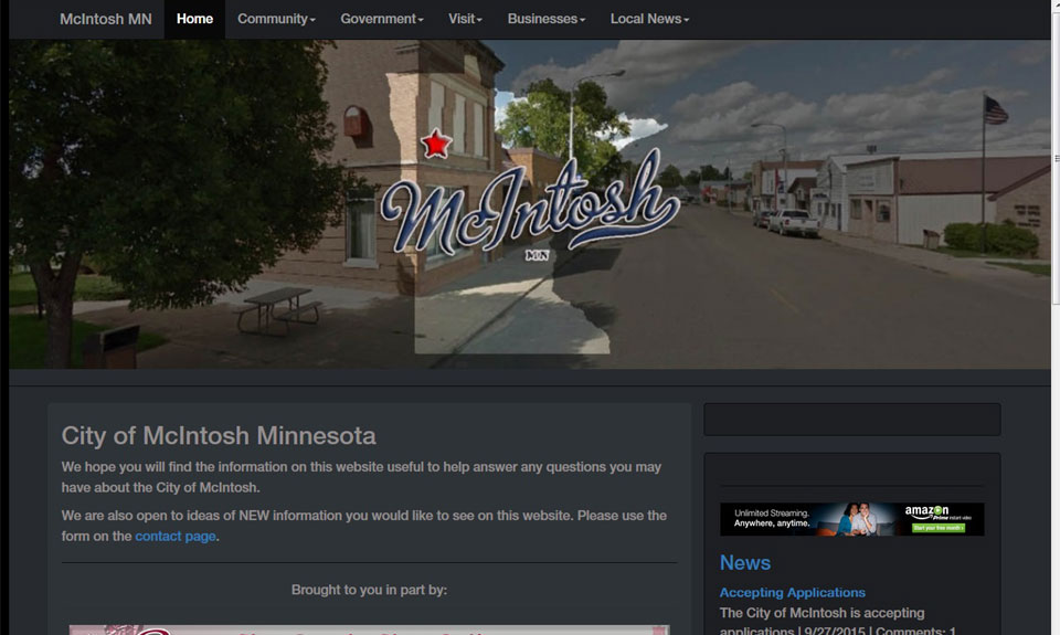 McIntosh MN web site