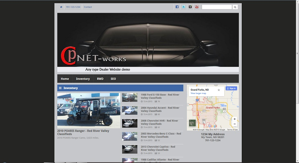 Dealer website with on page editing snapshot