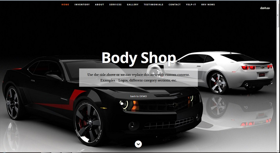 Scrolling site with onpage editing complete with a contact form, 8 image lightbox gallery and google map