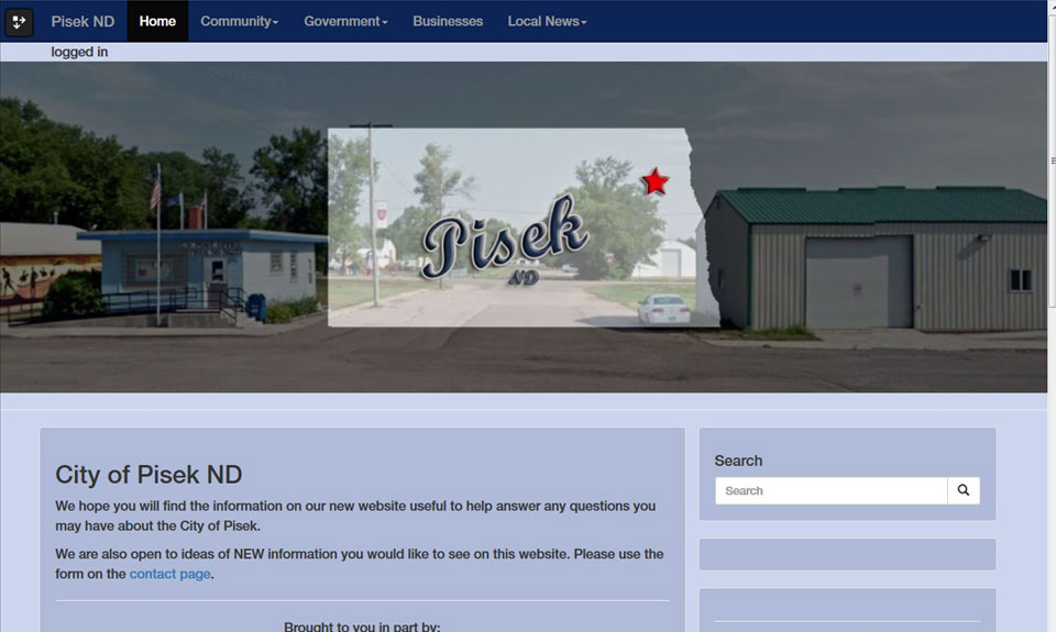 Pisek ND demo web site