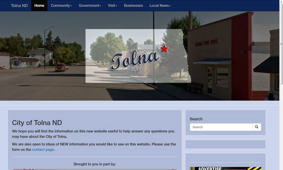 Tolna ND demo web site