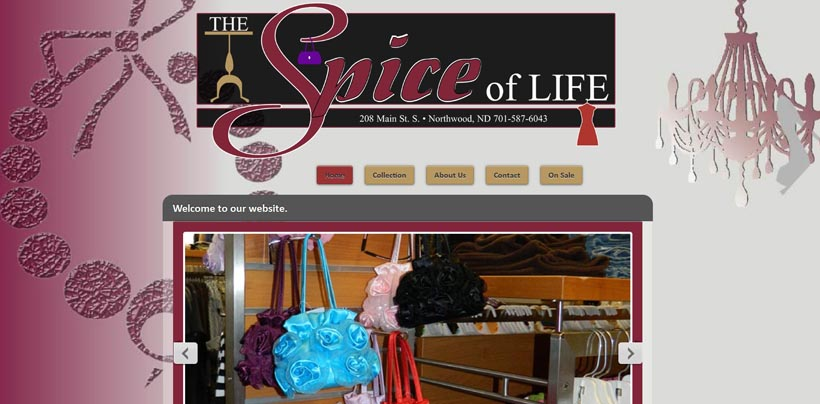 Spice of Life Clothing Store website snapshot
